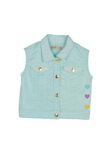 Silversun Kids Kız Çocuk Kalp Işlemeli Kolsuz Ceket Yc 216040 Yeşil